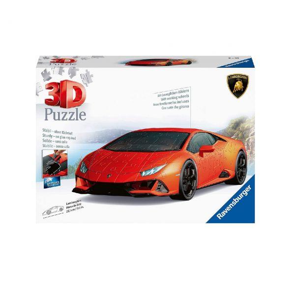 RAVENSBURGER 11238 - 3D-Puzzle - Lamborghini Huracán EVO, 108 Teile