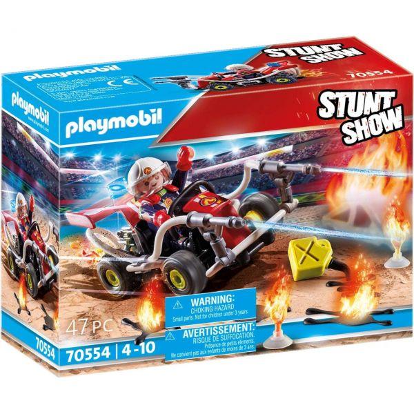 PLAYMOBIL 70554 - Stuntshow - Feuerwehrkart