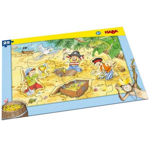 HABA 303707 - Rahmenpuzzle - Piratengold, 25 Teile