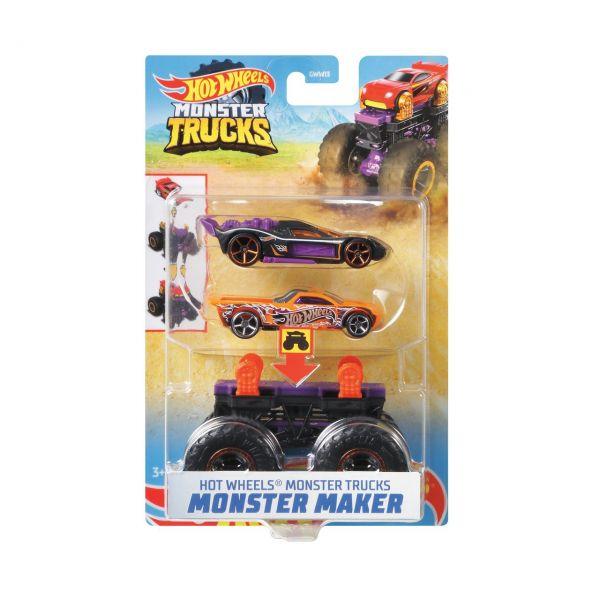 MATTEL GWW16 - Hot Wheels - Monster Trucks 1:64, Monster Maker Bone Shaker