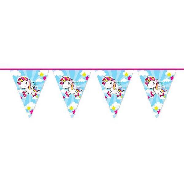 FOLAT 65047 - Geburtstag & Party - Wimpelkette Einhorn, 10 m