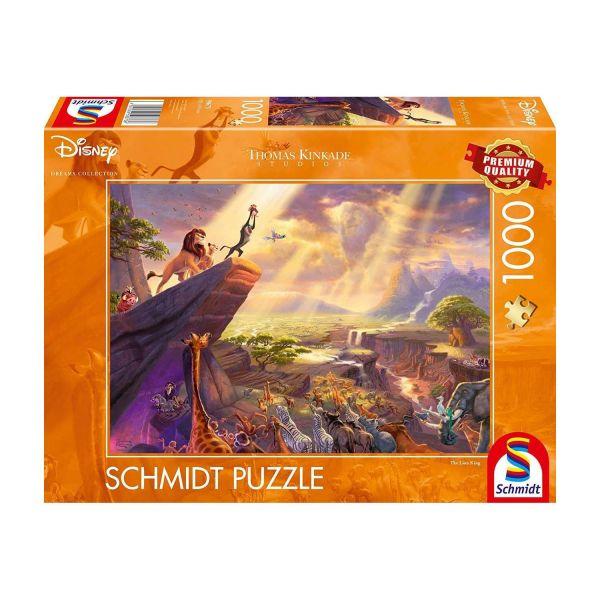 SCHMIDT 59673 - Puzzle - Thomas Kinkade, Disney König der Löwen, 1000 Teile