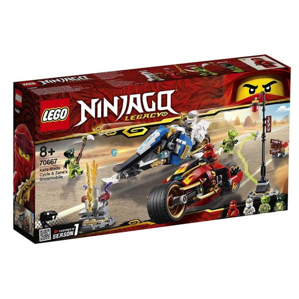 LEGO 70667 - Ninjago - Kais Feuer-Bike & Zanes Schneemobil