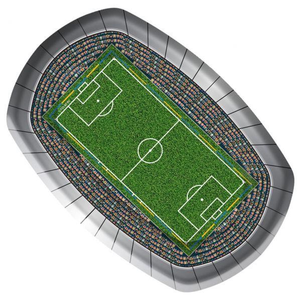 FOLAT 26200 - Geburtstag & Party - Fußball Papp-Teller, 8 Stk., 23cm