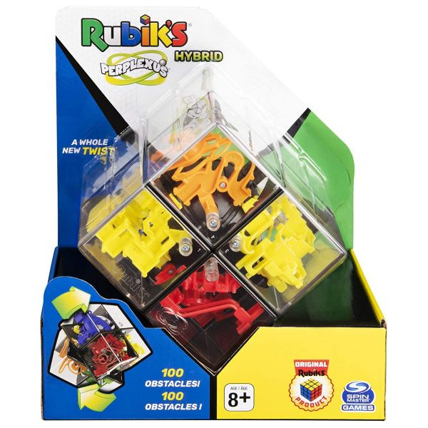 Spin Master 6058355 - Perplexus - Rubik's Perplexus Hybrid Kugellabyrinth 2x2