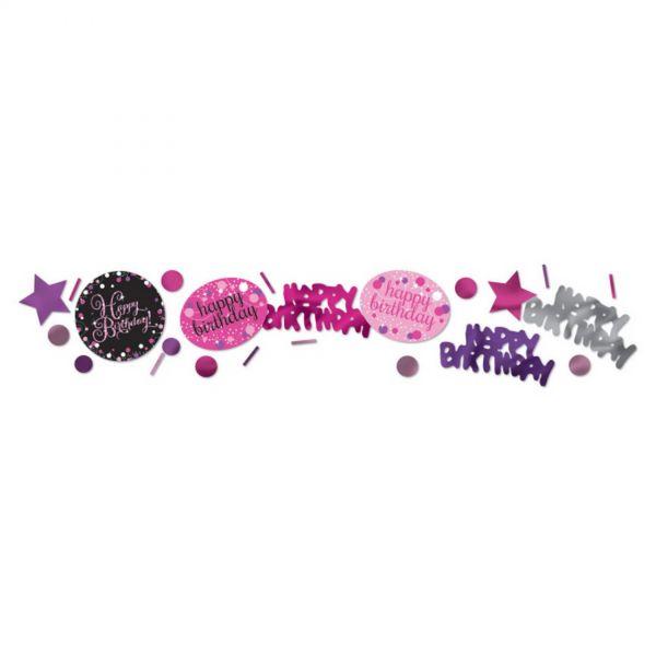 AMSCAN 9901186 - Sparkling Celebrations Pink, Happy Birthday - Konfetti, 34g