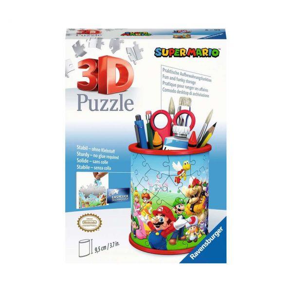 RAVENSBURGER 11255 - 3D Puzzle - Utensilio, Super Mario, 54 Teile