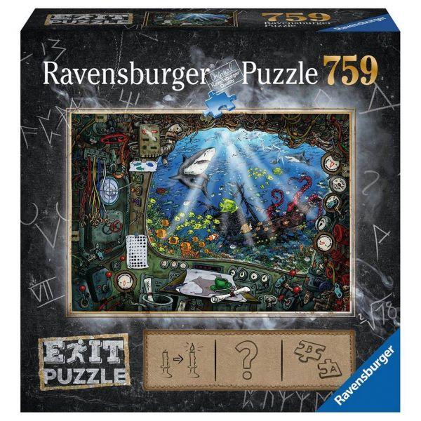 RAVENSBURGER 19953 - Puzzle - Exit 4: Im U-Boot, 759 Teile