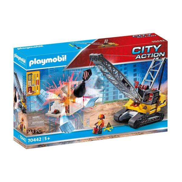 PLAYMOBIL 70442 - City Action - Seilbagger mit Bauteil