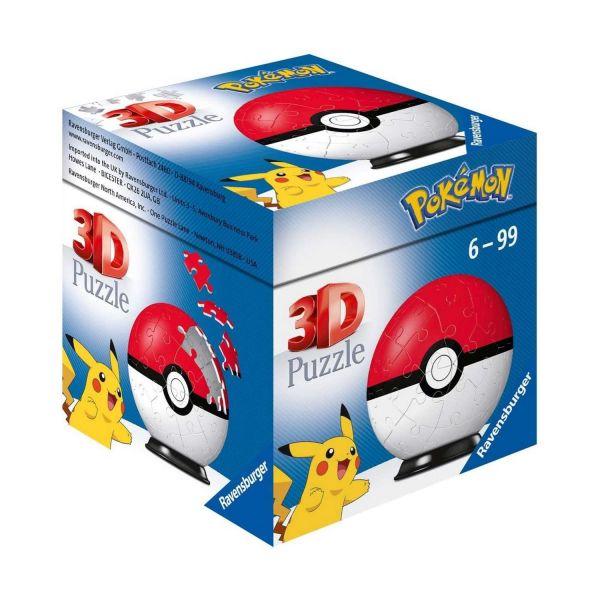 RAVENSBURGER 11256 - Puzzle - Pokémon Pokéballs - Classic 3D, 54 Teile