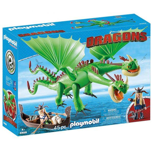 PLAYMOBIL 9458 - Dragons -Raffnuss und Taffnuss mit Kotz und Würg