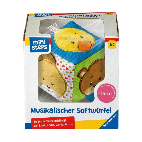 RAVENSBURGER 04162 - Ministeps - Musikalischer Softwürfel für Babys