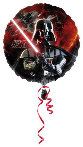 AMSCAN 25685 - Folienballon - Disney Star Wars, Darth Vader, 45cm