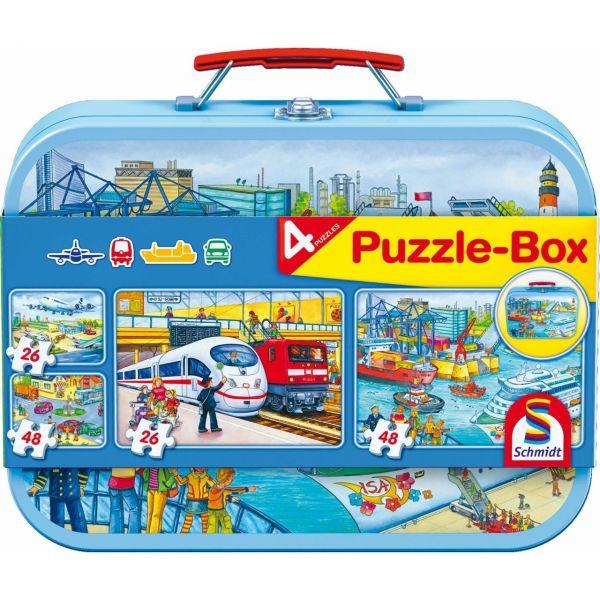 SCHMIDT 56508 - Puzzle Koffer - Verkehrsmittel