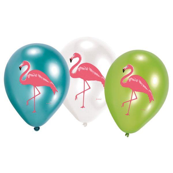 AMSCAN 828837 - Geburtstag & Party - Flamingo Paradise Balloons, 6 Stk.