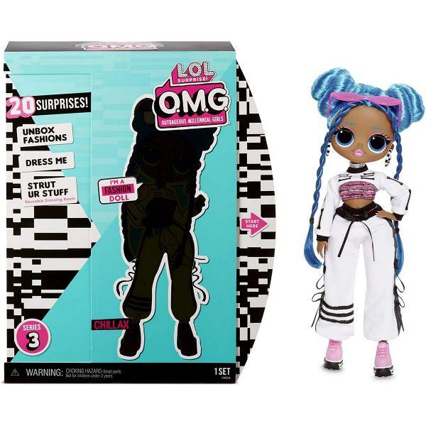 MGA 570165E7C - L.O.L. Surprise O.M.G. - Fashion CORE Doll, AA-Chillax