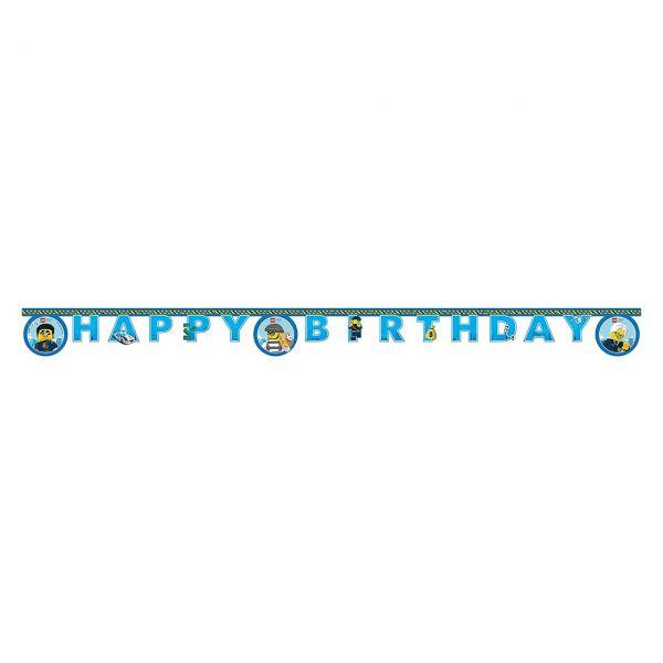 PC 50292251 - Geburtstag & Party - LEGO City, Happy Birthday Banner, 1 Stk.