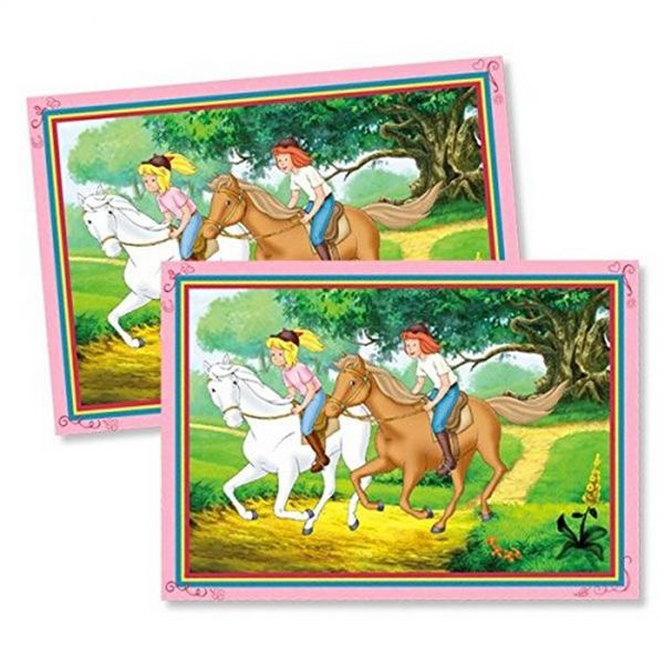 DH 501818 - Geburtstag & Party - Bibi & Tina Platzset, 6 Stk., 38 x 27 cm