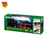BRIO 33884 - World - Batterie-Dampflok mit Wassertank - Lokomotive mit echtem kühlen Dampf