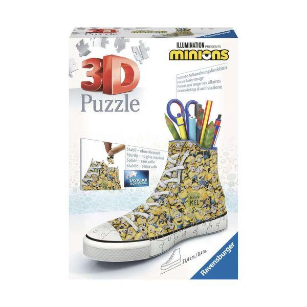 RAVENSBURGER 11262 - 3D Puzzle - Sneaker Minions, 108 Teile