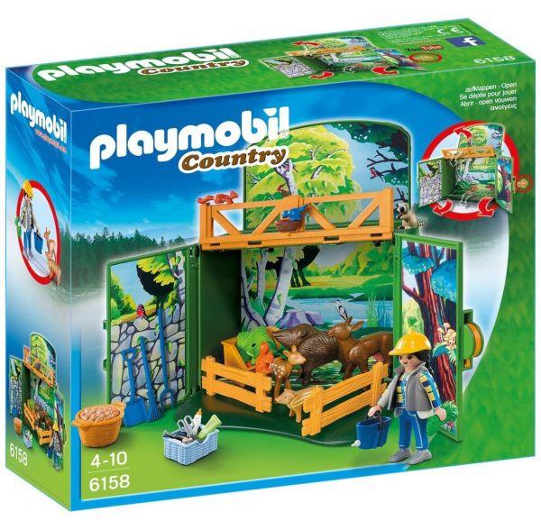 PLAYMOBIL 6158 - Country - Aufklapp-Spiel-Box Waldtierfütterung