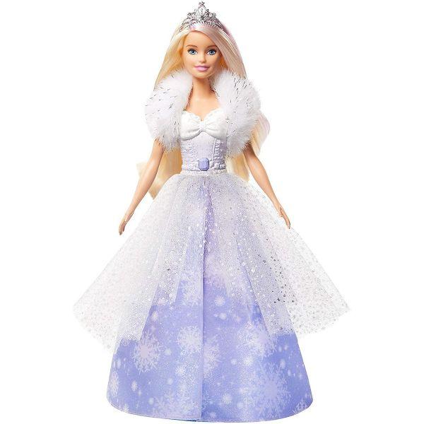 MATTEL GKH26 - Barbie - Dreamtopia Schnee Prinzessin Puppe mit Bürste