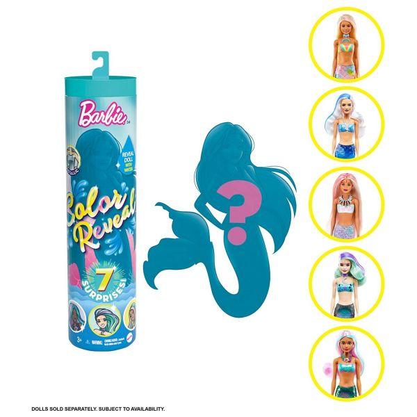 MATTEL GTP43 - Barbie Color Reveal - Puppe Meerjungfrau Mermaid mit 6 Teilen