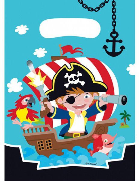AMSCAN 9902125 - Geburtstag & Party - 8 Partytüten Pirat