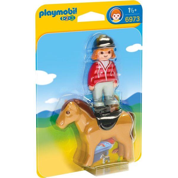 PLAYMOBIL 6973 - 1.2.3 - Reiterin mit Pferd