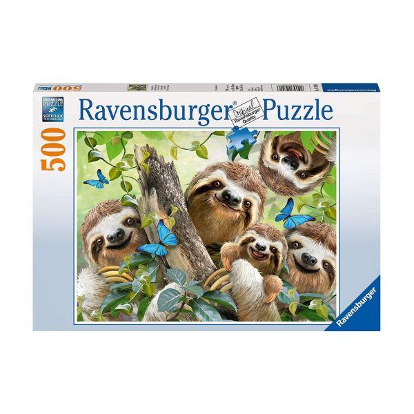 RAVENSBURGER 14790 - Puzzle - Faultier Selfie, 500 Teile