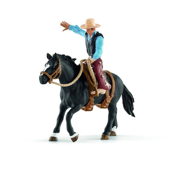 SCHLEICH 41416 - Farm World - Saddle bronc riding mit Cowboy - Spielzeug