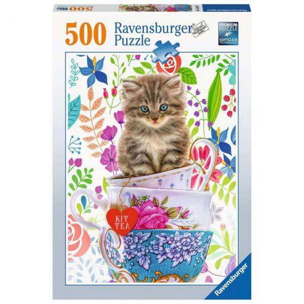 RAVENSBURGER 15037 - Puzzle - Kätzchen im Tässchen, 500 Teile
