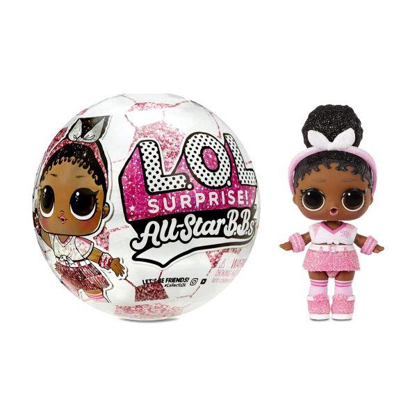 MGA 572671EUC - L.O.L. Surprise - All Star BBs Soccer, 1 Stk., zufällige Auswahl
