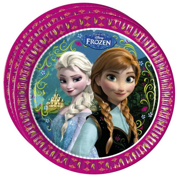 FOLAT 82499 - Geburtstag & Party - Teller Disney Frozen, 8 Stk