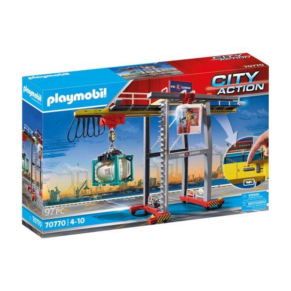 PLAYMOBIL 70770 - City Action - Portalkran mit Containern