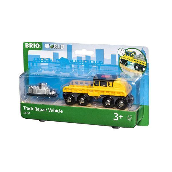 BRIO 33897 - Bahn - Schienenreparatur-Fahrzeug