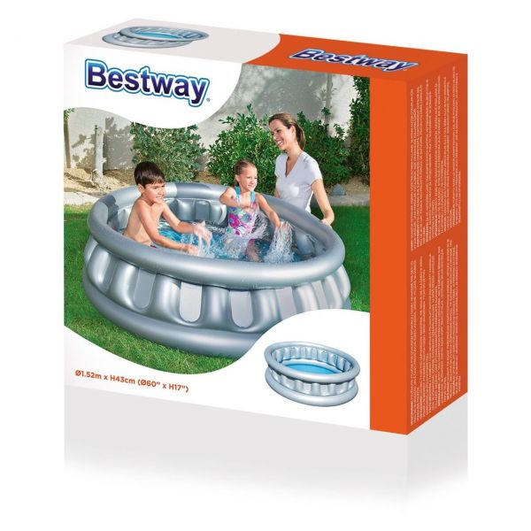 BESTWAY 51080 - Planschbecken Space Ship, 152 x 43 cm