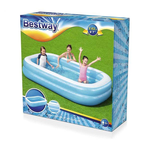 BESTWAY 54006 - Planschbecken - Familien Pool, 262x175x51cm