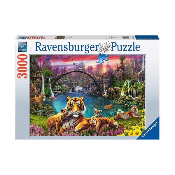 RAVENSBURGER 16719 - Puzzle - Tiger in paradiesischer Lagune, 3000 Teile