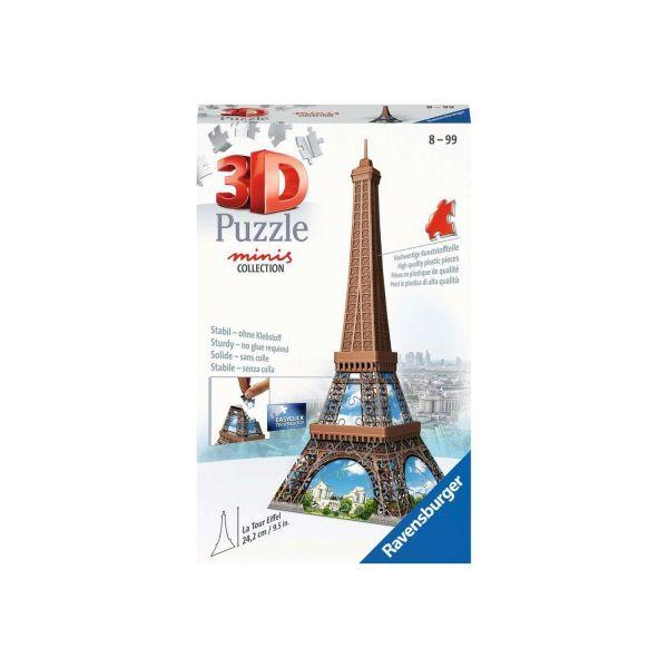 RAVENSBURGER 12536 - 3D Puzzle - Mini Eiffelturm, 54 Teile