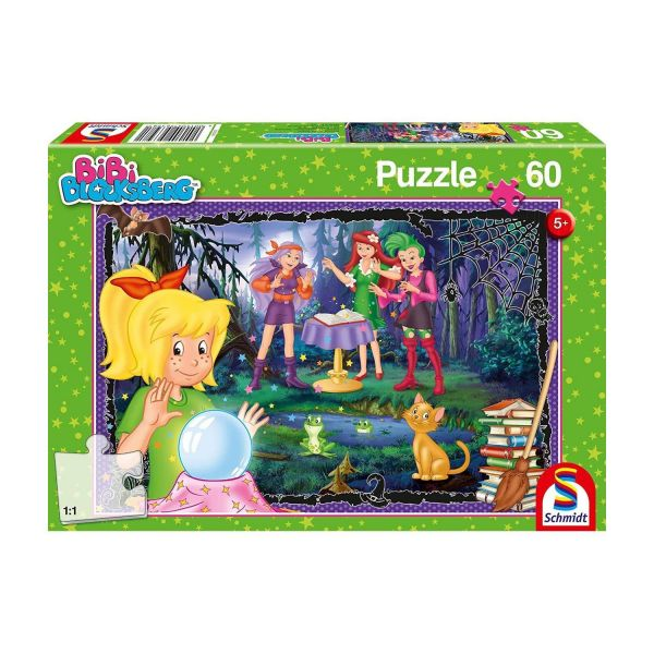 SCHMIDT 56398 - Puzzle - Bibi Blocksberg, Voll verhext, 60 Teile