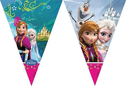FOLAT 84630 - Geburtstag & Party - Wimpelkette Disney Frozen, 2 m
