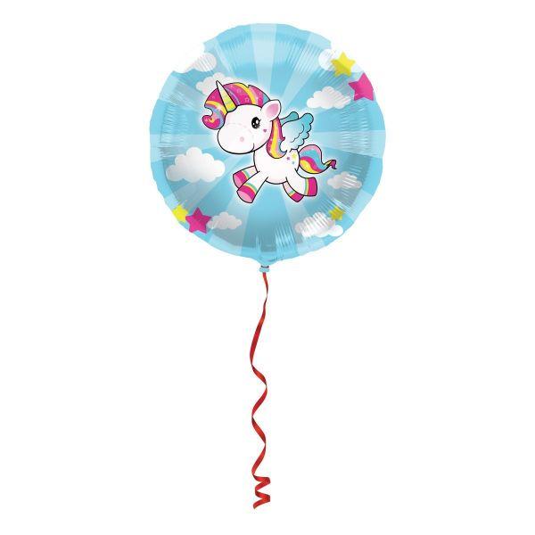 FOLAT 65046 - Folienballon - Einhorn, 45 cm