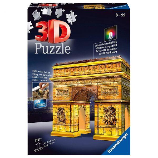 RAVENSBURGER 12522 - 3D Puzzle - Triumphbogen bei Nacht - 216 Teile