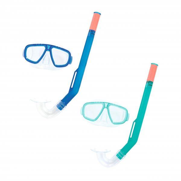 BESTWAY 24018 - Taucherbrille mit Schnorchel Kinder Tauchset FunDive, sortiert