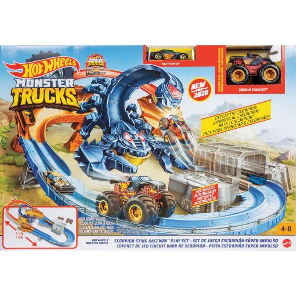 MATTEL GNB05 - Hot Wheels - Monster Truck Skorpion Beschleuniger Rennbahn Set