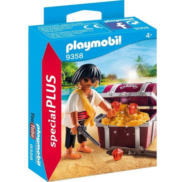 PLAYMOBIL 9358 - Special Plus - Pirat mit Schatzkiste