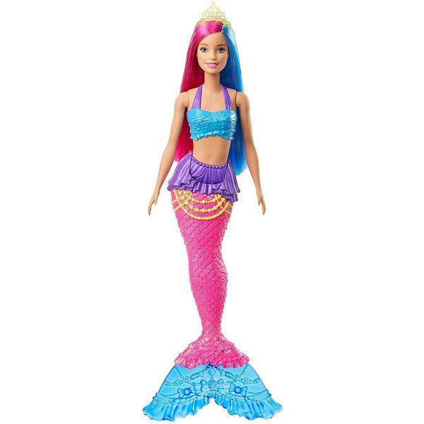 MATTEL GJK08 - Barbie - Dreamtopia Meerjungfrau Puppe, pink und blaue Haare