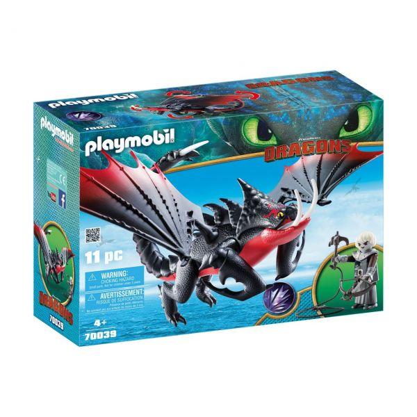 PLAYMOBIL 70039 - Dragons - Deathgripper mit Grimmel