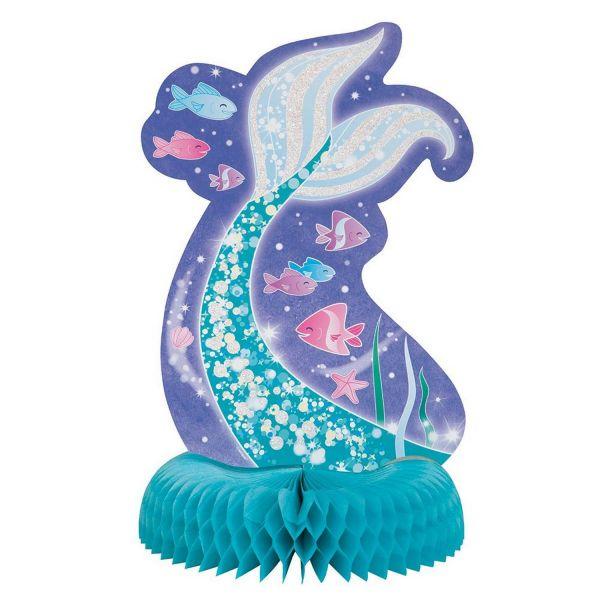 UNIQUE 583270 - Geburtstag & Party - Meerjungfrau, Tischaufsteller, ca 35cm